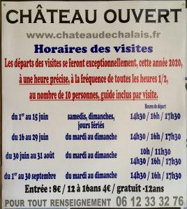 Covid 19 : ouverture du Château en Juin 2020